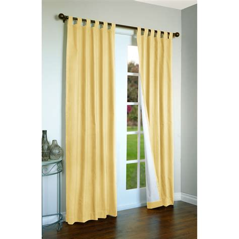 yellow tab top curtains thermalogic weathermate curtains 80x84 quot tab top