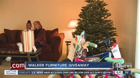 single mother of four receives furniture from walker furniture to fill empty apartment - Walker Furniture Christmas Giveaway