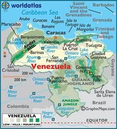 Venezuela On World Map by Uclast203 2010 Venezuela