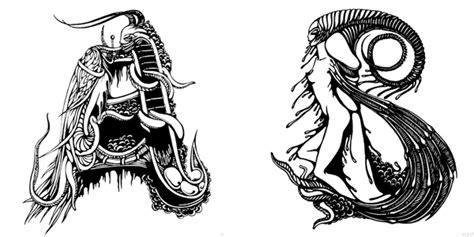 alphabets tattoo designs unique alphabet letter font illustrations by irina batkova
