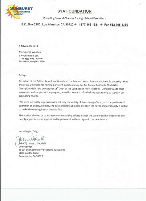 K9 Donation Letter Bw Unlimited Charity Fundraising