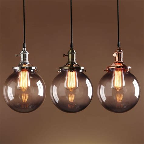 Classic Ceiling Lights by Details About Deco Sphere Pendant L Gray Glass Globe Shade Vintage Industrial Ceiling Light