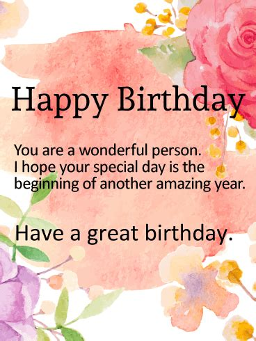happy birthday sandra blessed and wonderful kind amazing have a great birthday birthday wish card birthday