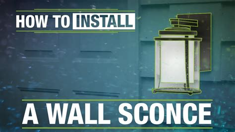how to install an outdoor wall sconce