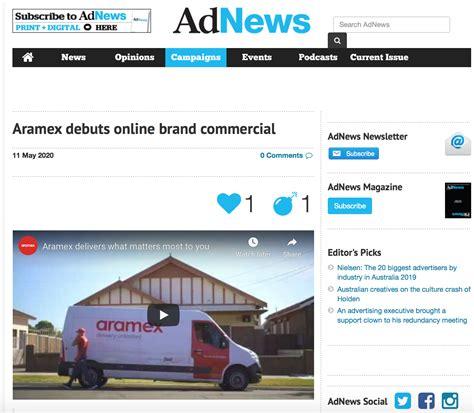 aramex australia aramex debuts  brand commercial