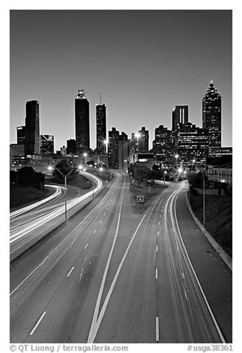 atlanta skyline black and white wallpaper black and white picture photo highway and skyline dusk