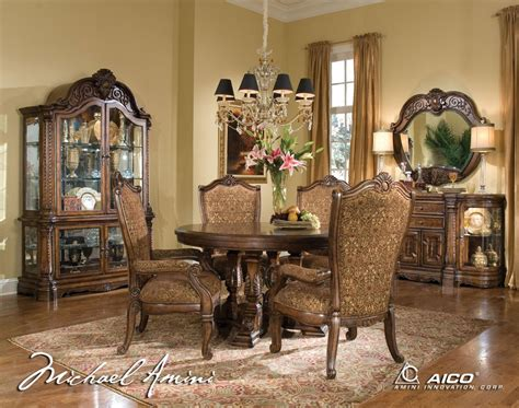 michael amini dining room michael amini windsor court fruitwood traditional round
