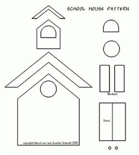 printable school house template mel stz wee houses 124 links templates tutorials etc