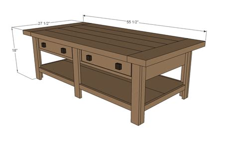 size of a coffee table coffee table plans dimensions 187 woodworktips