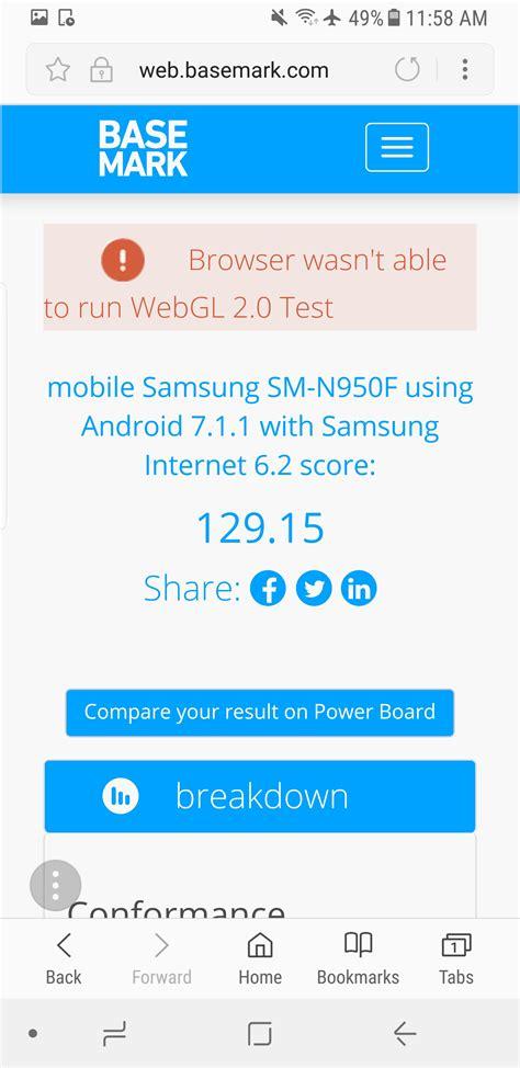 mobile browser test samsung vs chrome vs firefox vs edge mobile browsers