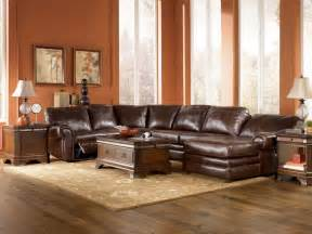 2017 leather sectional sofa with recliner and