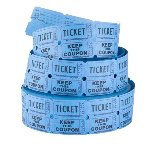 raffle tickets carnival king blue 2 part raffle tickets 2000 roll