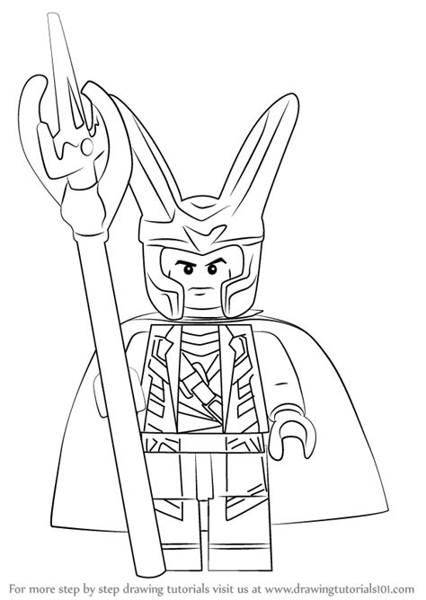 Lego Loki Coloring Pages | learn how to draw lego loki lego step by step drawing