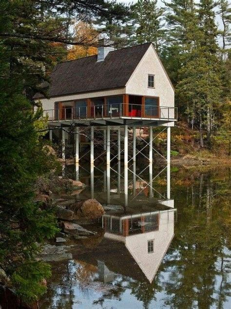 Lake House On Stilts Stilt Houses Pinterest Lakes Tiny House On Stilts