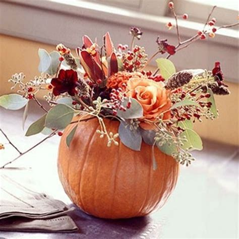 65 Awesome Pumpkin Centerpieces For Fall And Halloween Pumpkin With Flowers Centerpieces