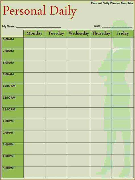 calendar daily template 5 free daily calendar template ganttchart template