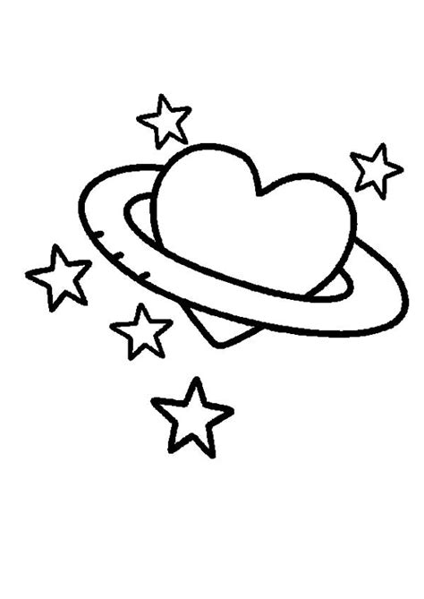 imagenes de amor para dibujar en cartulina coloriage cœur entour 233 d etoiles pour maman