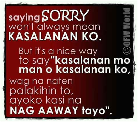 Apology Letter For Friend Tagalog Sorry Quotes