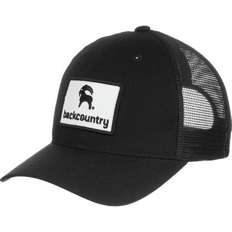 Topi Hat Trucker The Black backcountry goat patch trucker hat s backcountry