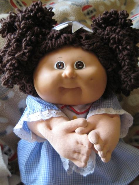popcorn hair reserved cabbage patch popcorn hair girl doll brown