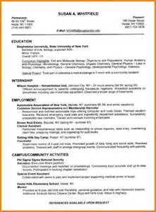 Example Of Complete Resume 5 Example Of A Completed Cv For Students Appeal Letters