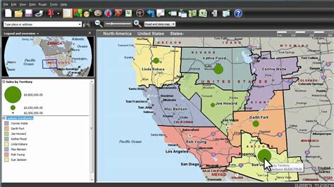 map point microsoft mappoint visualizing sales results based on territory