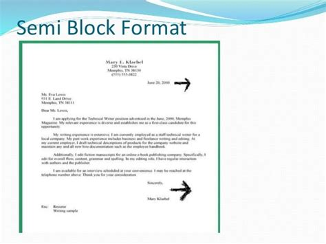 application letter format semi block style sle of application letter in semi block format