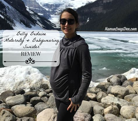 Opinions On Made In Canada - belly bedaine maternity babywearing sweater review