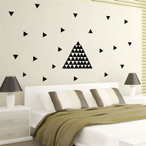 Home Decoration Stickers 48pcs Triangles Wall Sticker Room Wall Decoration Wall Decals Home Decor Diy Peel And Stick