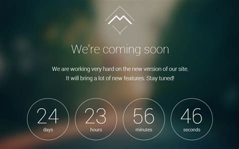 bootstrap themes free countdown design a landing page coming soon or under construction