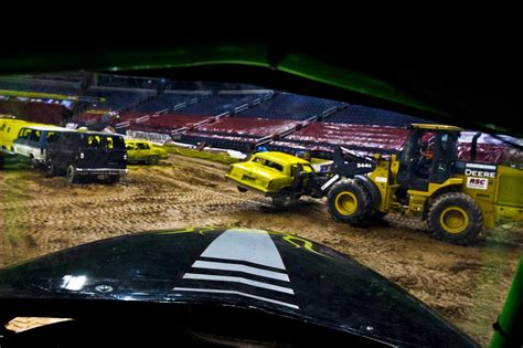 how to become a monster truck driver for monster jam we crush the cars inside the monster truck arena wamc
