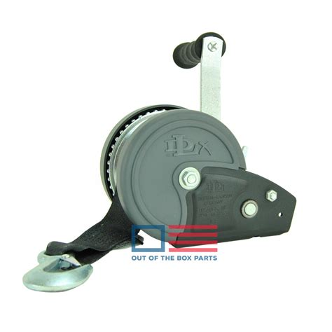 boat winch with strap dlx boat trailer winch 1200 lb capacity with winch strap