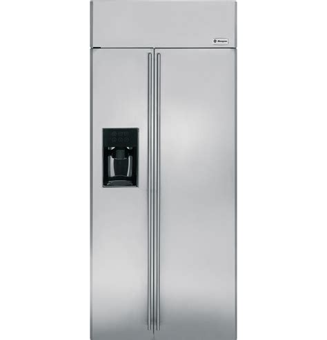ge monogram refrigerator ziss360dxss ge monogram 174 36 quot built in side by side