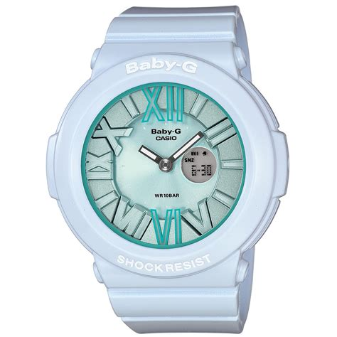 g shock babyg womens analogdigital light blue resin