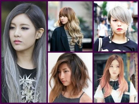 trendy hair color asian girls hairstyles youtube