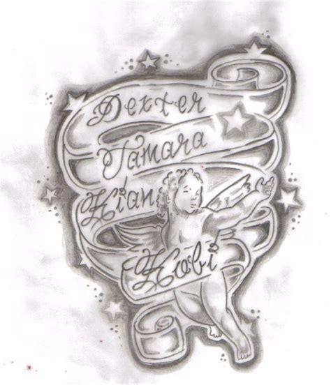 lovely children names design  tattoo tattoomagz