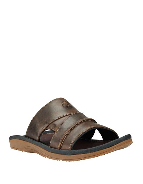 brown slide sandals timberland earthkeepers original leather slide sandals in