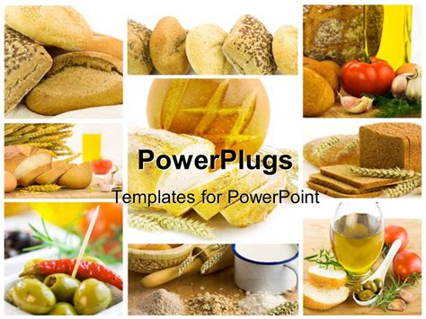 Powerpoint Template Collage Of Healthy Food Bread Tea And Milk 16003 Food Templates For Powerpoint