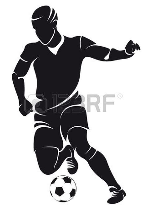 football ball silhouette vector football player running silhouette clipart panda free