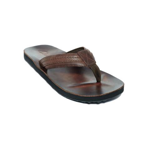 clarks flip flop sandals lyst clarks leather flip flop sandals in brown for