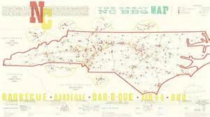 carolina bbq map the great nc bbq map myfox8