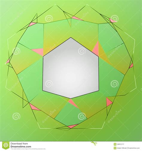 composition layout art green line art layout composition polygon frame royalty
