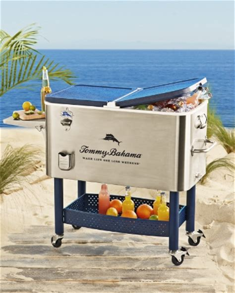 tommy bahama stainless steel cooler on wheels tommy bahama