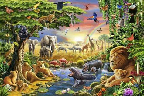 Kids Wallpaper Jungle For Attractive Nursery   Hum Ideas