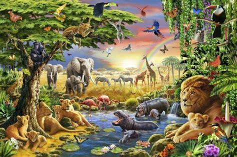 Kids Wallpaper Jungle For Attractive Nursery Hum Ideas