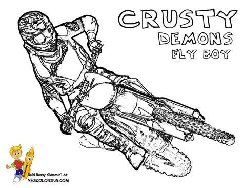 Motocross Coloring Pages rider dirt bike coloring pages dirt bike free