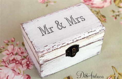 Wedding Ring Jewelry Box by Jewelry Cottage Chic Box Ring Box White Ring Box White