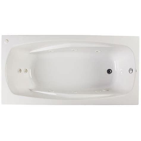 proflo bathtub proflo pfwplusa6032 60 x 32 drop in 8 jet whirlpool bath tub biscuit petesdozlovsdfewszs