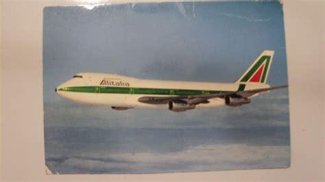 alitalia ufficio gruppi coppia cartoline aerei alitalia inizi anni 80 annunci