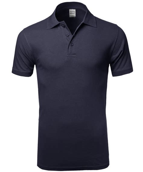 Polo Basic 4 Colour s basic solid 3 buttons polo shirts in various colors fashionoutfit